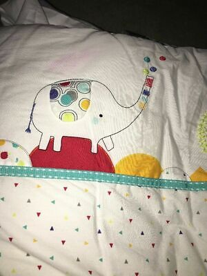Mothercare Alphabet Brights Duvet Cover Set For Cotbed / 2 Sheets