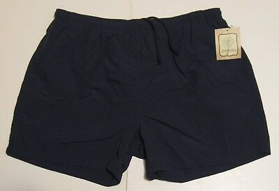 3cee912033f64 XL Men St. John's Bay Swim Shorts Trunks Navy Blue Nylon Polyester new NWT