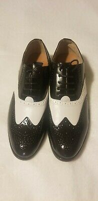 f3f8c1dbc0b02 MEN'S MAJESTIC COLLECTION Dress Shoe WingTip Casual Formal Size 10 Black  White