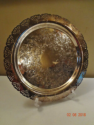 Home Decorators Inc Silver Plated Round Tray Serving Platter