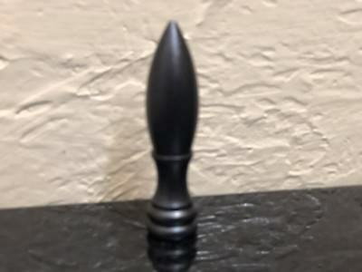 "Brass Bullet Lamp Shade Finial Harp Topper 2"" Oil Rubbed Bronze FinIsh"
