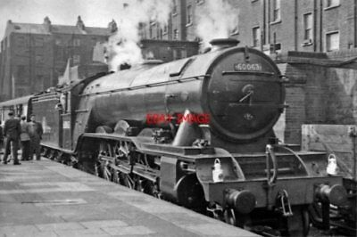 Photo  Lner A3 No 60063 Isinglass 1956 At Marylebone Railway Station 10.00 Expre