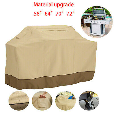 """600D Waterproof Barbecue Gas Grill Cover 58""""64"""" 70""""72"""" BBQ Protection Heavy Duty"""