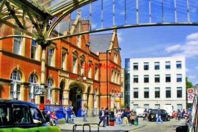 Photo  Marylebone Railway Station Exterior 2011 View East On Melcome Place With