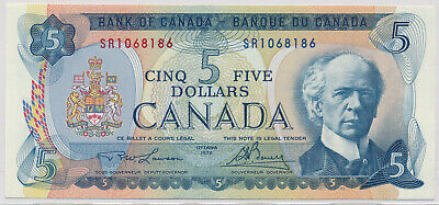 Bank Of Canada 5 Dollars 1972 Sr1068186 Bc48B