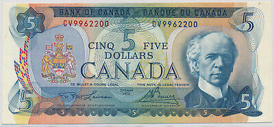 Bank Of Canada 5 Dollars 1972 Cv9962200 Bc48B