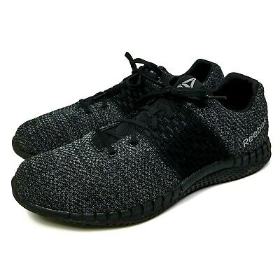 4499e6dbf28 Reebok Mens Print Run Ultraknit CN1113 Black Gray Running Shoes Size 13  GREAT!