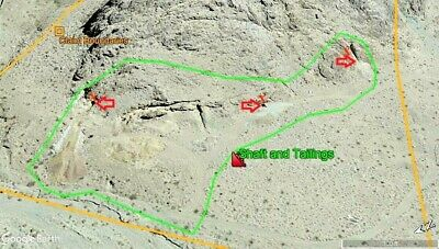 Lode Mining Claims So Cal Gold Silver Ore Mine Inyo Co Darwin/coso