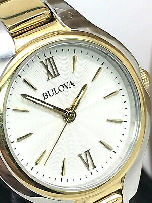 Bulova Women's 98L217 Quartz 28mm Two Tone Stainless Steel Bracelet Watch