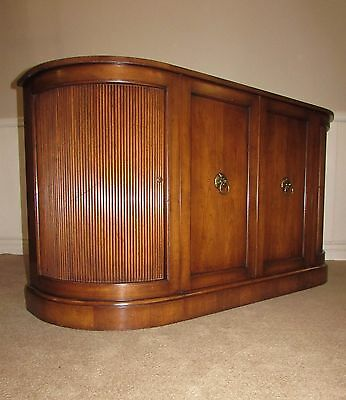 Vintage Old Colony Furniture Mid Century Buffet Server Sideboard Tambour Doors