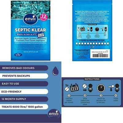 New Septic Klear Bacterial Septic Tank Cleaner 12 Tablets Size 12 Fast Shipping