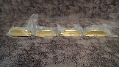 """New! IVES 4"""" SASH LIFTS, BRIGHT BRASS PLATED STEEL P/N 75-5875, QTY 4"""