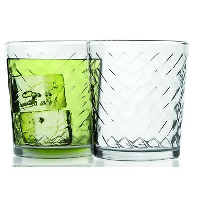 Durable Everyday Drinking Glasses Heavy Duty Thick Tumbler 12.5 Oz Size Set Of 4