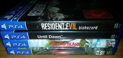 4 Survival Horror Spiele Playstation 4 RESIDENT EVIL 7, UNTIL DAWN, ... PS4