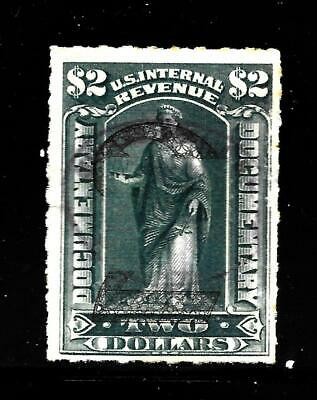 Hick Girl Stamp-Old  Used U.s. Documentary Sc#r191  1902 Surcharge    X7684