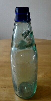 Rare Blue Top Aqua Mineral Water Cod Bottle, £40