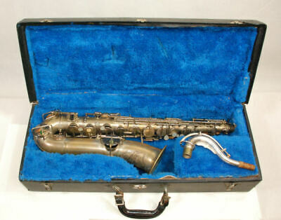 Buescher C-Melody Saxophone,  Nice Unrestored Condition, Silver Plated