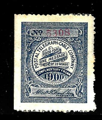 Hick Girl Stamp-Old Mint Postal Telegraph & Cable Company  Issue 1900    X7687