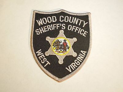 West Virginia WV Wood County Sheriff's Badge Design Office Iron On Patch