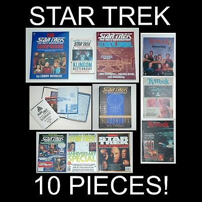 Star Trek books magazines technical blueprints TOS TNG Voyager Next Gen lot: 10