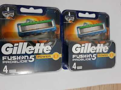 Gillette Fusion ProGlide POWER Razor Blades 4 or 8 Pack - 100% Genuine & Sealed