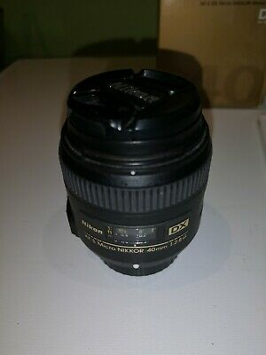 NIKON AF-S DX Micro NIKKOR 40mm f/2.8G Lens, boxed and in VGC, Free UK Delivery