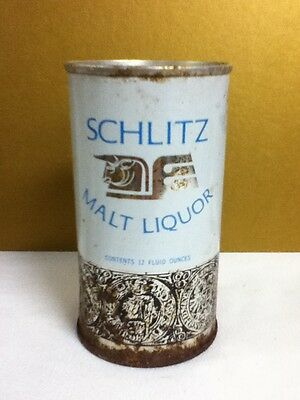 "Schlitz malt liquor metal pull top old beer can 12 oz. 4.75"" Milwaukee J6"