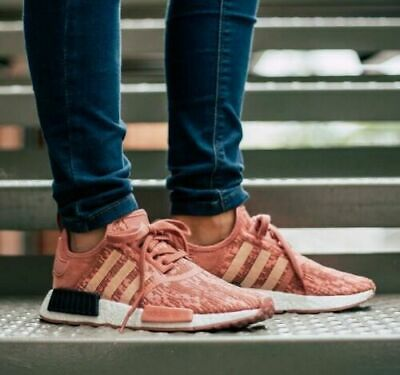 3127dbbe0afa9 Adidas Women Original NMD R1 Raw Pink Trace Pink Legend Ink BY9648 AUTHENTIC