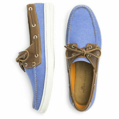 61f78dfeab3 Peter Millar men s Monteray Boat Shoes Docksider Tahoe Blue size 11.5 NEW  in Box