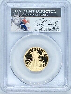 1989 W American Gold Eagle Proof 1/4 oz $10 PCGS PR69 Deep Cameo Key Date Coin