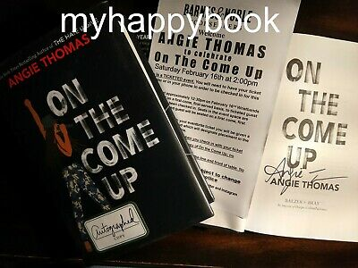 SIGNED On the Come Up by Angie Thomas with event photos and event flyer, new