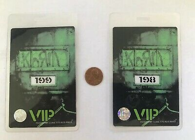 KORN AUTHENTIC LAMINATED Backstage Passes VIP numbered 198/199
