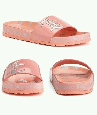 7d74ec9740d Juicy Couture Women s Slide Sandals silver Color Peach coral Size 8 brand  new