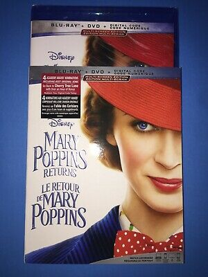Mary Poppins Returns ( Blu-ray/DVD/Digital ) with Slipcover 2019