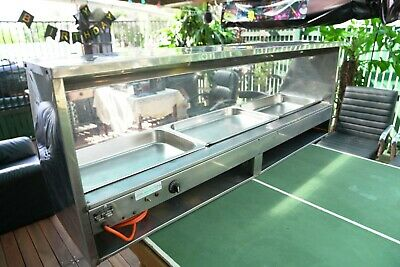 Electric bain marie food warmer. ZEUS brand in GC. Stainless steel