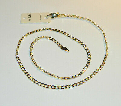 Collier Chaine Maille Gourmette 45Cm Plaque Or Neuf