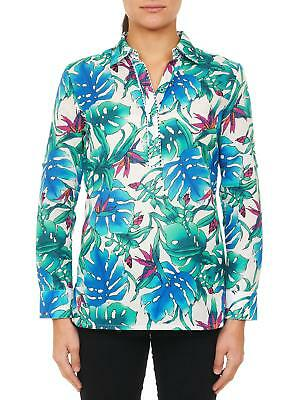 Robert Graham Women's NWT Birds of Paradise Colorful Shirt Size Small $298