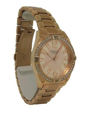 Caravelle by Bulova 44L108 Women's Round Analog Rose Gold Tone Clear Stone Watch