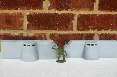 Marx Painted WWII D-Day Bunkers Pillbox Concrete Defensive Position Toy