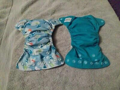 Grovia Cloth Diaper Lot Newborn AIO All In One RARE Discontinued Colors EUC