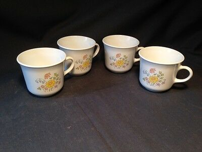 Vintage Corelle Spring Meadow Cups (Set of 4)