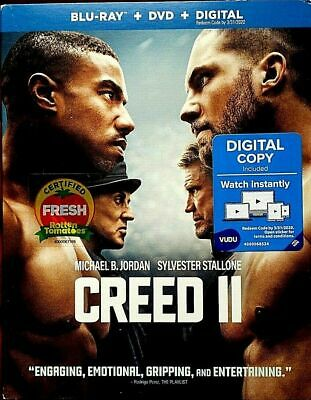 CREED II 2 BLU-RAY + DVD + DIGITAL COMBO = Two Discs + Code BRAND NEW & SEALED!