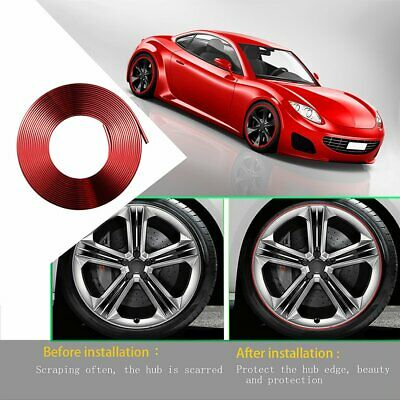 8M alliage roue Rim Protector garde voiture Tuning Pinstripe ligne rouge
