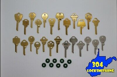 Professional 25 key Depth Key Set with bump rings (Residential + Commercial)