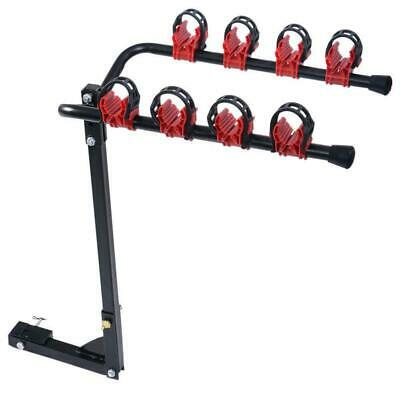 Portable Camping 4 Bicycle Rack Trailer Hitch Bike Carrier Car//Truck Racks SUV