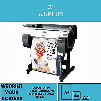 Gloss Poster Printing Full Colour A4 A6 200GSM For Personal Business Bulk Orders