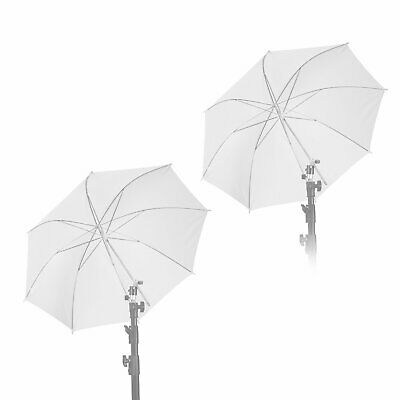 33 inch photography Pro Studio Reflector Translucent White Diffuser Umbrella x 2