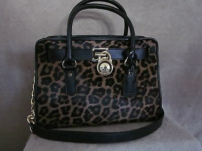 71c318e02e2c MICHAEL KORS 30F5GHVS2H Hamilton French Binding Leather Purse Tote Handbag  NWT
