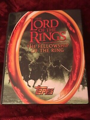 Lord of the Rings Fellowship of the Ring 2001 TOPPS Trading Card Binder + EXTRAS