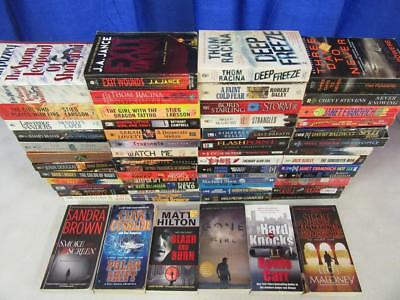 HUGE Lot of (59) THRILLER SUSPENSE MYSTERY Books CLIVE CUSSLER DOUGLAS PRESTON